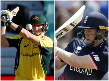 Steve Smith and Eoin Morgan, captain of Australia and England respectively. Reuters