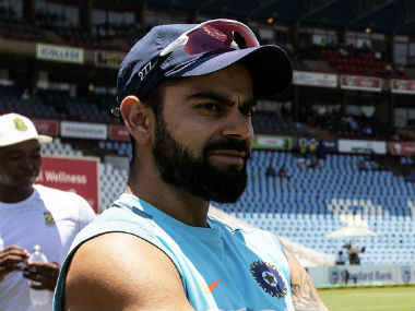 Virat Kohli in a pensive mood after India's 135-run loss to South Africa at Centurion. AFP