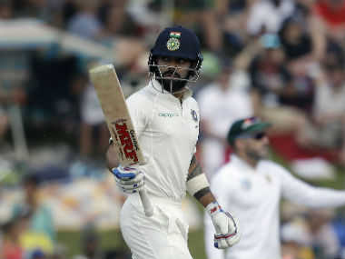 Virat Kohli gained 12 points from his knocks of 54 and 41 in the third Test against South Africa. AP