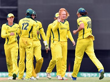 Australia U-19 defeated Afghanistan in the Super League semi-final to qualify for the final of the U-19 ICC World Cup 2018. Image courtesy: Twitter @ICC