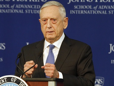 Jim Mattis unveils National Defense Strategy says US faces growing threats from China and Russia