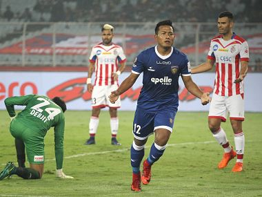 ISL 201718 Chennaiyin FC beat defending champions ATK to jump to top of table