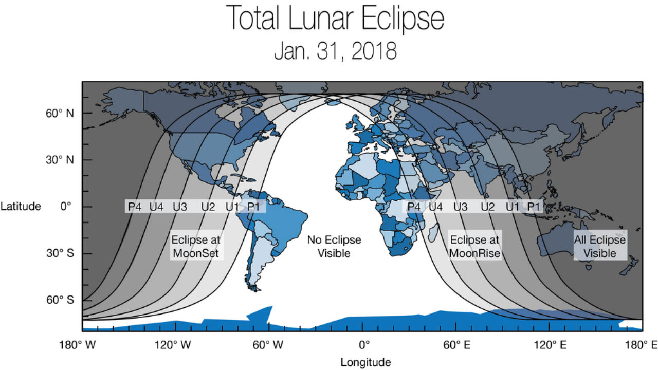 Blue Moon 2018 All you need to know about the eclipse when where and how to watch the lunar trilogy in India