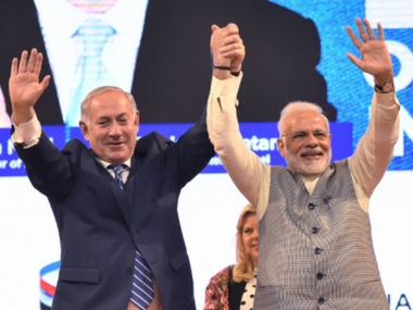 In Gujarat Narendra Modi vies to double farmer income by 2022 Benjamin Netanyahu says Israel will help India achieve its vision