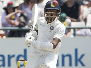 Hardik Pandya in action on Day 2 of the first Test against South Africa at Newlands, Cape Town. AP