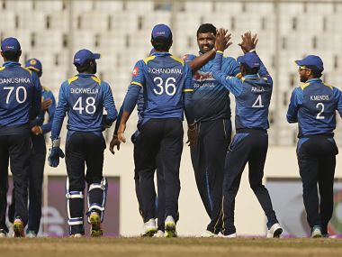 Thisara Perera was adjudged Man of the Match in Sri Lanka's five-wicket victory over Zimbabwe. Image courtesy: Twitter @ICC