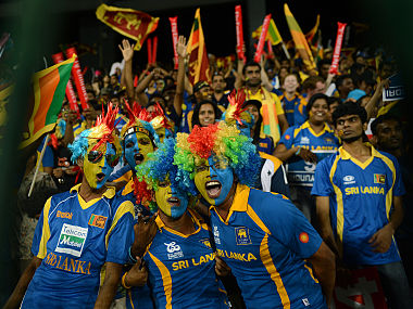 File image of Sri Lankan cricket fans enjoying their time in the stadium. AFP