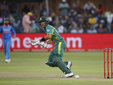 South Africa batsman Aiden Markram prepares to run during the fifth One Day International cricket match between South Africa and India at Saint George Park, in Port Elizabeth, on February 13, 2018. / AFP PHOTO / MARCO LONGARI