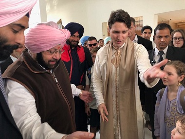 Justin Trudeau in India Amarinder Singh hands over list of nine Khalistan sympathisers to Canadian PM