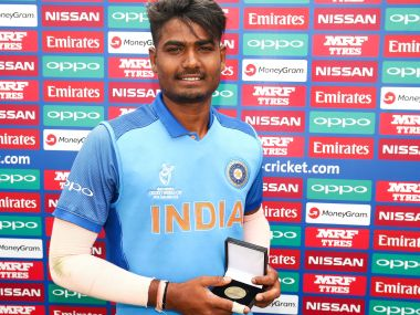 Anukul Roy was the unsung hero for India during the 2018 ICC U-19 World Cup. Image Courtesy: ICC