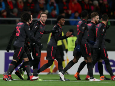 Europa League Arsenal stroll past Swedish minnows Ostersunds Michy Batshuayi rescues Borussia Dortmund in first leg