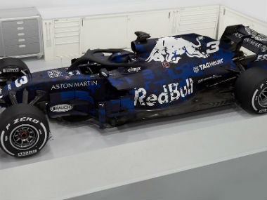 Formula One: Red Bull launch new car with temporary livery ahead of pre-season tests
