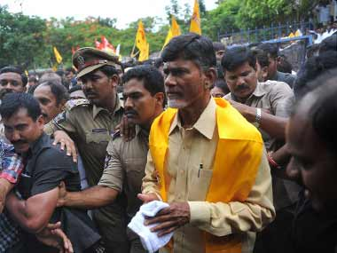 N Chandrababu Naidu pulls out of NDA accuses YSR Congress Jana Sena of secret understanding with BJP to defame TDP