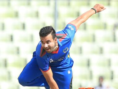 Dawlat Zadran bagged a hat-trick as Afghanistan beat West Indies in warm-up game. Twitter/@ICC