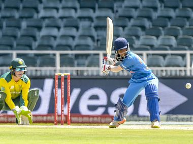 17-year-old India's Jemimah Rodrigues smashed an impressive 44 in the 5th T20I against South Africa. Image courtesy: @officialCSA