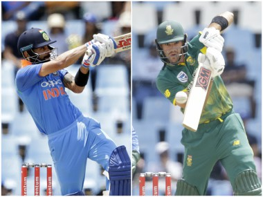 Virat Kohli and Aiden Markram, captain of India and South Africa. AFP