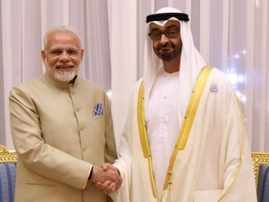Narendra Modi meets Abu Dhabi crown prince Mohamed bin Zayed signs five deals in energy railways and financial sectors