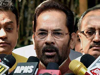 Govt announces reduction in airfare for Haj pilgrims Mukhtar Abbas Naqvi calls it empowerment without appeasement