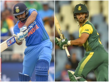 India stand-in captain Rohit Sharma and South Africa captain JP Duminy. AFP
