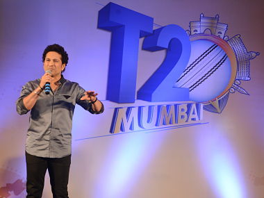 Sachin Tendulkar at the launch of the first edition of T20 Mumbai League. File