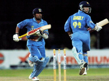 Sourav Ganguly went on to form a successful partnership with Sachin Tendulkar, with the pair holding the record for most partnership runs in ODI cricket. AFP