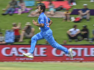 Indian bowler Shardul Thakur in action during the sixth ODI agaisnt South Africa. PTI