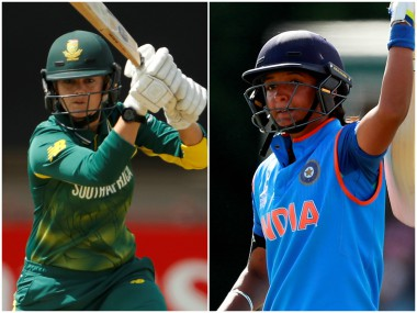 Dane van Niekerk and Harmanpreet Kaur. Reuters