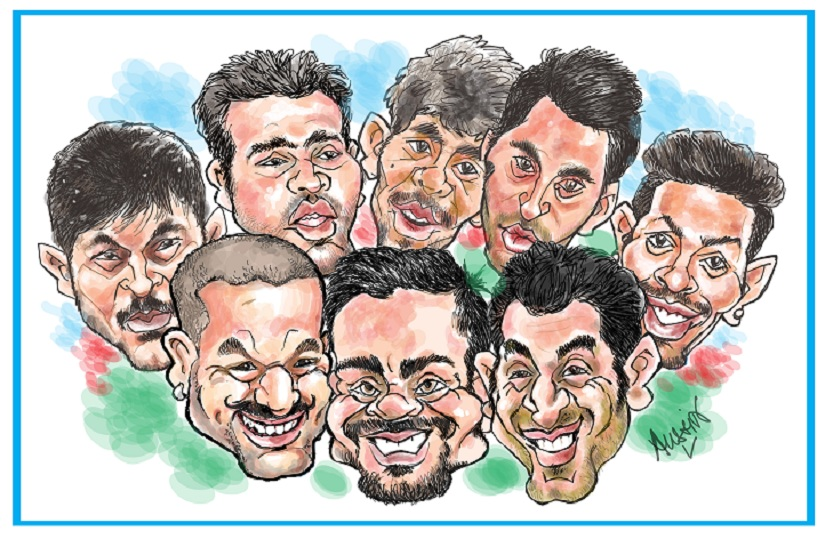 India will be the team to beat in the ICC World Cup of 2019. Illustration courtesy Austin Coutinho