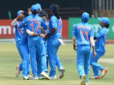 India's women's team emerge victorious (3-1) in T20 series against hosts South Africa. Image courtesy: Twitter @OfficialCSA