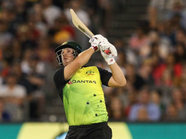 Australia's Aaron Finch in action against England in the Trans-Tasman T20 Tri-series in Melbourne. AFP