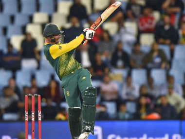 South Africa's Heinrich Klaasen plays a shot during the second T20I against India in Centurion. AFP