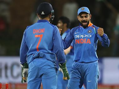 India captain Virat Kohli in action during the fifth ODI. Image courtesy: Twitter @BCCI