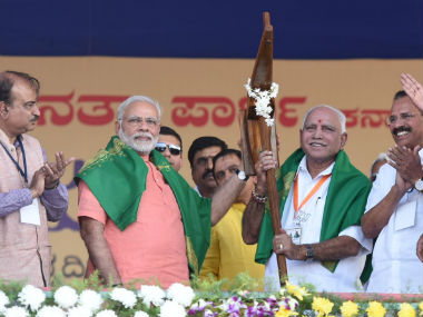 In pollbound Karnataka Narendra Modi says Sardar Patel statue in Gujarat will be a tribute to millions of farmers