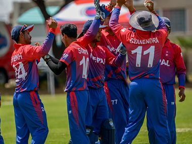 Nepal secured a historic entry into the upcoming World Cup qualifiers with a sensational last-ball one-wicket win over Canada. Image courtesy: Twitter @ICC