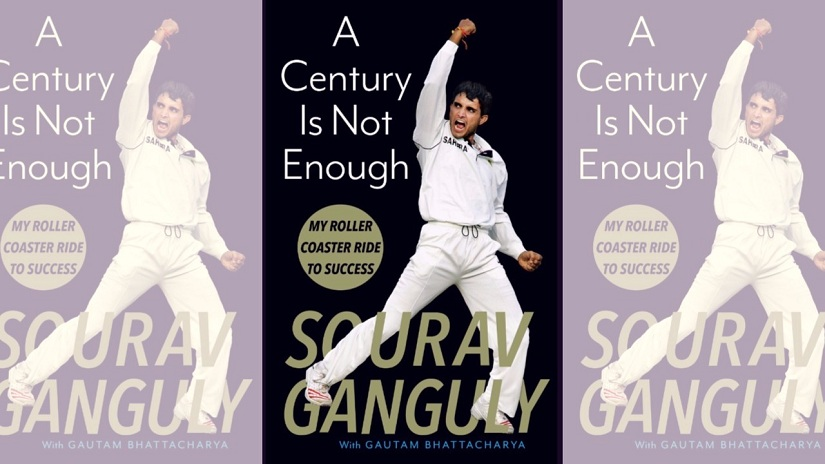 Cover for Sourav Ganguly's book, A Century Is Not Enough, published by Juggernaut Books