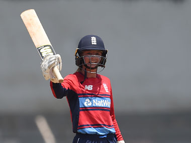 Danielle Wyatt hit a 64-ball 124 in the 3rd T20I of the women's Tri-Series against India. AFP