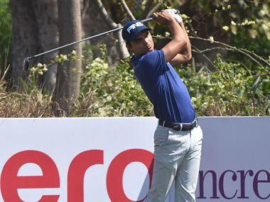 Indian Open 2018 Ajeetesh Sandhu cards solid fourunder 68 Anirban Lahiri Shubhankar Sharma struggle