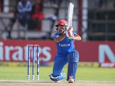 Asghar Stanikzai in action against Ireland in the ICC World Cup Qualifiers 2018. ICC