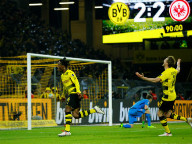 Bundesliga Borussia Dortmund ride on Michy Batshuayis lastgasp winner against Frankfurt RB Leipzig held by Stuttgart