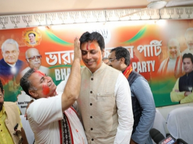 Tripura CM Biplab Kumar Deb claims those who oppose Hindi do not love India adds that he is not antiEnglish