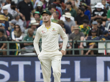 Cameron Bancroft on Day 3 of the 3rd Test between South Africa and Australia. AP