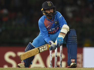 Dinesh Karthik played a quickfire knock in the final of Nidahas Trophy 2018. AFP