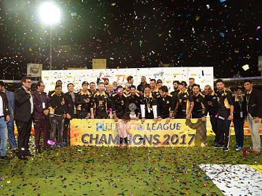 Kerala Kings won the inaugural edition of the T10 League. Image courtesy: Twitter @T10LeagueTweets