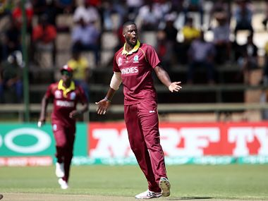 West Indies coach Stuart Law said Jason Holder's four wickets against Zimbabwe were crucial. Image courtesy: @cricketworldcup