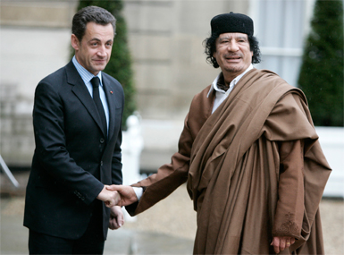 ExFrench president Nicolas Sarkozy held over claims that he received campaign funding from Muammar Gaddafi