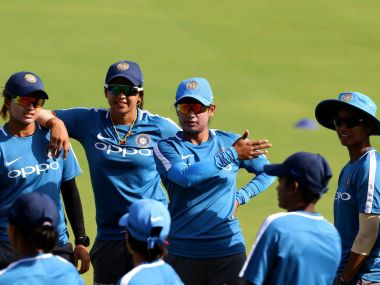 Indian women's cricket team during a practice session. Image courtesy: Twitter @BCCIWomen