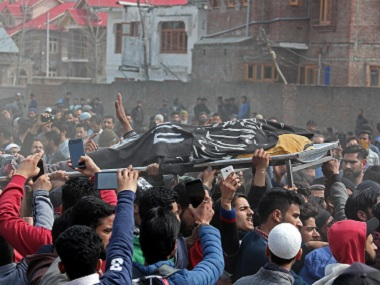 Islamic State flags seen at militants funeral in Kashmir but clerics politicians deny group is gaining ground in Valley