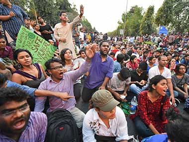 JNU protests NCW orders probe into police lathi charge manhandling of woman journalist at march