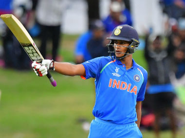 Manjot Kalra won the Man of the Match in the final of the U-19 World Cup for his unbeaten 101. AFP