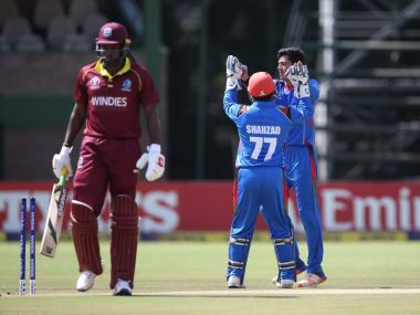 Off-spinner Mujeeb Ur Rahman claimed three wickets, including Chris Gayle. Image: Twitter/ @ACBofficials